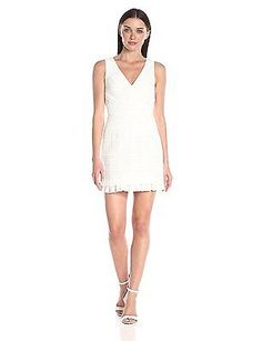 Size 10, Summer White/White, French Connection Women's Summer Cage Dress NEW