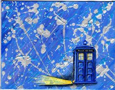 Dreams of the TARDIS - Original Abstract Acrylic Doctor Who Painting by Craft Rabbit Studios