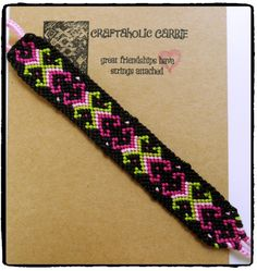 Woven Bright Friendship Bracelet #2757 by CraftaholicCarrie on Etsy