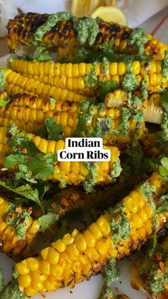 Corn Recipes, Veggie Recipes, Indian Food Recipes, Great Recipes, Vegetarian Recipes, Healthy Eating Recipes, Cooking Recipes, Veggie Dishes, Food Videos