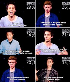 Dylan O'Brien and his Maze Runner: Scorch Trials castmates sum up the series' plot in 30 seconds