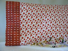 Button Snowflake Pillowcase by LJsCustomCreations on Etsy, $8.00