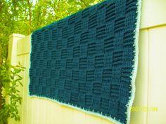 Baby Crochet Blanket  Handmade Weave Pattern  by MalanCrochetions, $74.99