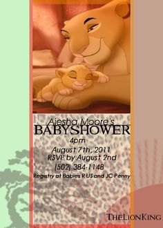 Lion King Digital Baby Shower Invitation You by BDesigns4You