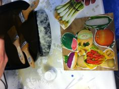 Encaustic Art painting