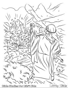 What Better Way To Brighten Up Monday Than With Some Free Coloring Pages Whether You Choose Have Your Kids Color Adam And Eve Or Moses The Burning