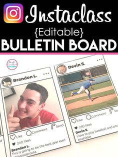 Instaclass is a fun way to bring a social media flair with a personalized touch to your classroom year round. The best part is it is EDITABLE and easy to put together.