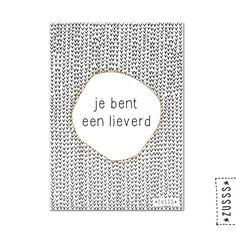 Zusss   Kaart je bent een lieverd   http://www.zusss.nl/product/kaart-je-bent-een-lieverd/