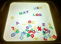 Testy yet trying: How to Make a Light Box Tutorial and Light Box Activities Clear Bins, Clear Plastic Containers, Diy Light Table, Diy Table, Activities For Kids, Crafts For Kids, Eyfs Activities, Letter Activities, Creative Activities