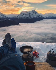 Camping Above the Clouds Who's down to camp out in the mountains high above the clouds? Tag a friend. Oslo, Into The Wild, Destination Voyage, Above The Clouds, Lofoten, Amazing Nature, Land Scape, The Great Outdoors, Trekking