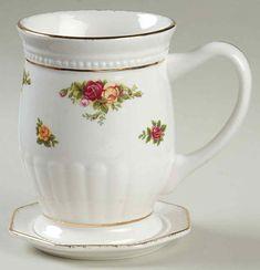 Royal Albert Old Country Roses Fluted Mug w Coaster | eBay