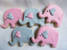 Baby elephants for baby shower by LaurasCreativeCookie on Etsy