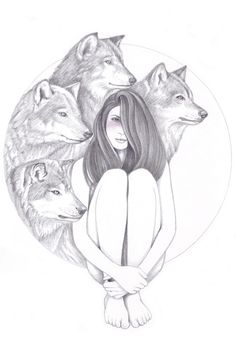Company Of Wolves Art Print by Andrea Hrnjak Society6 Wolf art drawing Wolf art print Wolf art