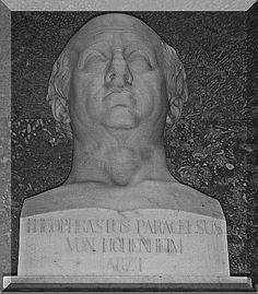 In 1410, famous alchemist Nicholas Flamel designed his own tombstone, which was carved with alchemical symbols. The tombstone is today at the Musée de Cluny in Paris. http://amystuartparanormalblogger.blogspot.com.au