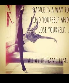 'Losing yourself by ignoring what is going on in your life and finding yourself by doing what you love♡' JUST DANCE! Just Dance, Dance It Out, Dance Like No One Is Watching, Dance Moms, Dance Stuff, Modern Dance, Dance Art, Dance Music, Ballet Quotes