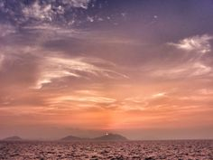 ( Evening Now at Hakata bay in Japan) 28 Jun. 19:22 博多湾糸島半島の毘沙門山に日の入り中です。#sunset #mysky