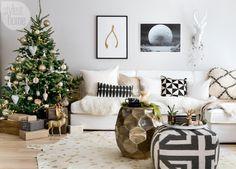 Una casa de estilo nórdico decorada para #navidad