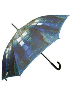 """TARDIS Umbrella with 23"""" Canopy - Official BBC Doctor Who Stick Umbrella by LOVARZI: Amazon.co.uk: Luggage"""
