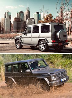 Een ritje door de stad of op avontuur over onverharde wegen, de Mercedes-Benz G-Klasse kan alles aan.  [bovenste foto door © Stephen Reuss]