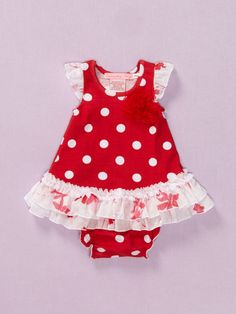 Baby Nay Watercolor Pond Dress & Bloomer Set