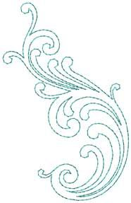 Design #4, bean stitch - machine embroidery design - great for combining