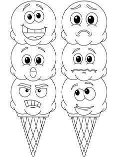Feelings Preschool, Teaching Emotions, Emotions Activities, Preschool Lessons, Kindergarten Activities, Preschool Projects, Coloring For Kids Free, Preschool Coloring Pages, Coloring Sheets For Kids