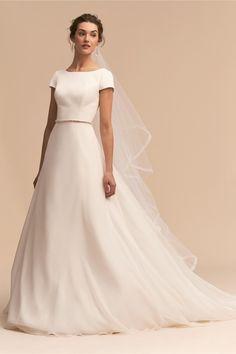 BHLDN Crest Gown Ivory  in  Bride | BHLDN