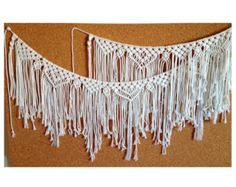 Macrame Curtain. Macrame wall Decor Macrame garland Cotton