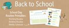 Back+To+School+Printable+Routines