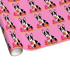 Boston Terrier Cupcakes Wrapping Paper