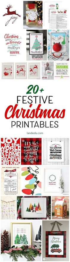 Over 20 festive + free Christmas printables to help deck the halls!