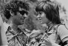 09 May 1970, Washington, DC, USA --- Political activists Abbie Hoffman and Jane Fonda talk at a demonstration in Washington, DC, protesting the recent violence used to breakup a Vietnam War protest at Kent State University. Four Kent State students were killed, and many others injured, when members of the National Guard fired tear gas and rifles into crowds of student demonstrators who were protesting the Nixon administration's expansion of the Vietnam War into Cambodia. --- Image by © JP…