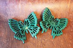 Vintage Butterfly Wall Hangings - Picked just for You via Etsy $7.95