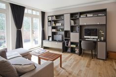 Paolo Marchetti Interiors | Day System TV & home office unit L 033 Living Area, Living Room, Home Tv, Furniture Inspiration, The Office, Corner Desk, The Unit, Interiors, Home Decor