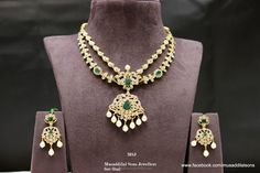 22K Gold Necklace Earrings Sets, 22K Gold Necklace with Emeralds, Gold Necklace Patterns.
