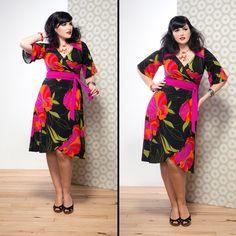 Dianne Wrap Dress in Magenta Noveau | Buy Now: http://sprinkleemporium.bigcartel.com/product/dianne-wrap-dress