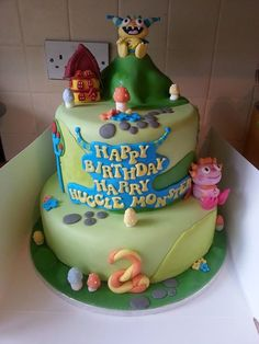 Want this 4 Jacks next bday! Boy Birthday Parties, Birthday Cakes, 2nd Birthday, Birthday Ideas, Henry Hugglemonster, Disney Themed Cakes, Monster Party, Cupcake Cakes, Cupcakes