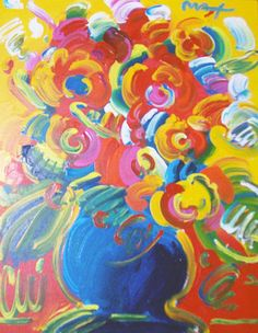 Peter Max - flowers