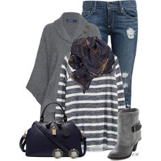 A fashion look from November 2014 featuring H&M sweaters, Ralph Lauren and Paige Denim jeans. Browse and shop related looks.