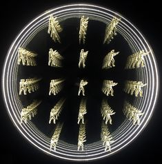 LED infinity mirror artwork by American artist Peter Gronquist