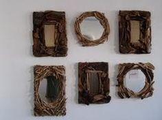 Espejos decorados con ramas y maderas