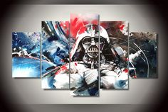 Star Wars Colorful Darth Vader Canvas - free shipping worldwide