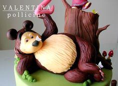 Orso (Bear) Bear Birthday, 2nd Birthday Parties, Masha And The Bear, Modeling Chocolate, Bear Cakes, Christmas Ornaments, Holiday Decor, Biscotti, Cupcakes