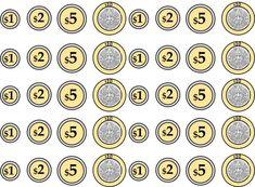 Fabulosos y creativos billetes y monedas para aprender jugando | Material Educativo Preschool Speech Therapy, Computer Teacher, Math Multiplication, Pin On, School Worksheets, Classroom Decor, Preschool Activities, Coins, Education