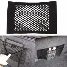 wupp 2017 NEW  Car Auto Back Rear Trunk Seat Elastic String Net Mesh Storage Bag Pocket Cage  MAY02_20 #Affiliate