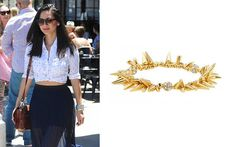 Olivia Munn: Wearing Our Renegade Cluster Bracelet - Gold. Get the look here:  www.stelladot.com/sarahtaliaferro
