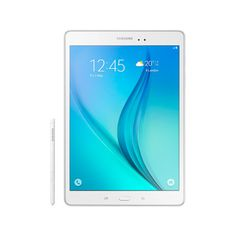 """The Galaxy Tab A Plus with S pen features a 9.7"""" 1024 x 768 pixels screen, it uses a Snapdragon 410 processors with a 5MP rear camera, 2 MP front-facing camera."""
