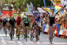 Jasper Stuyven sprints to Vuelta stage 8 victory - Pello Bilbao 2nd & Kevin Reza 3rd after crashes take out some big names.  (Withdraws after finding a broken bone in wrist)