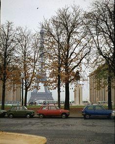 Eiffel Tower in Paris, 1976.