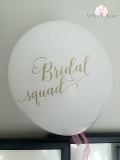 Bridal Squad  Pack of 6 Hen do balloons/ by bertiesballoons